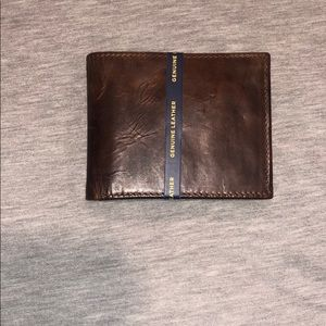 Stanford genuine leather data protection wallet.